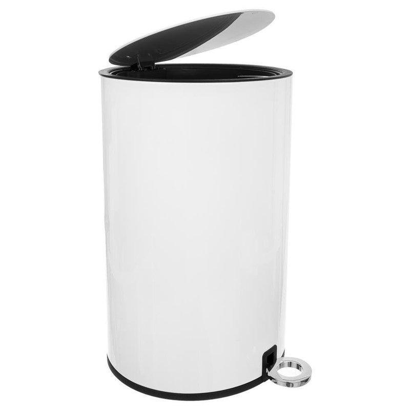ORION Bin for waste rubbish metal WHITE 3L on pedal