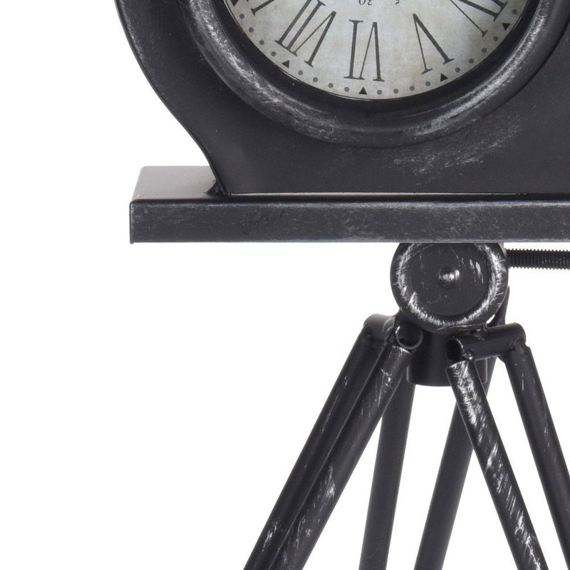 ORION Clock on desk commode table CAMERA metal RETRO