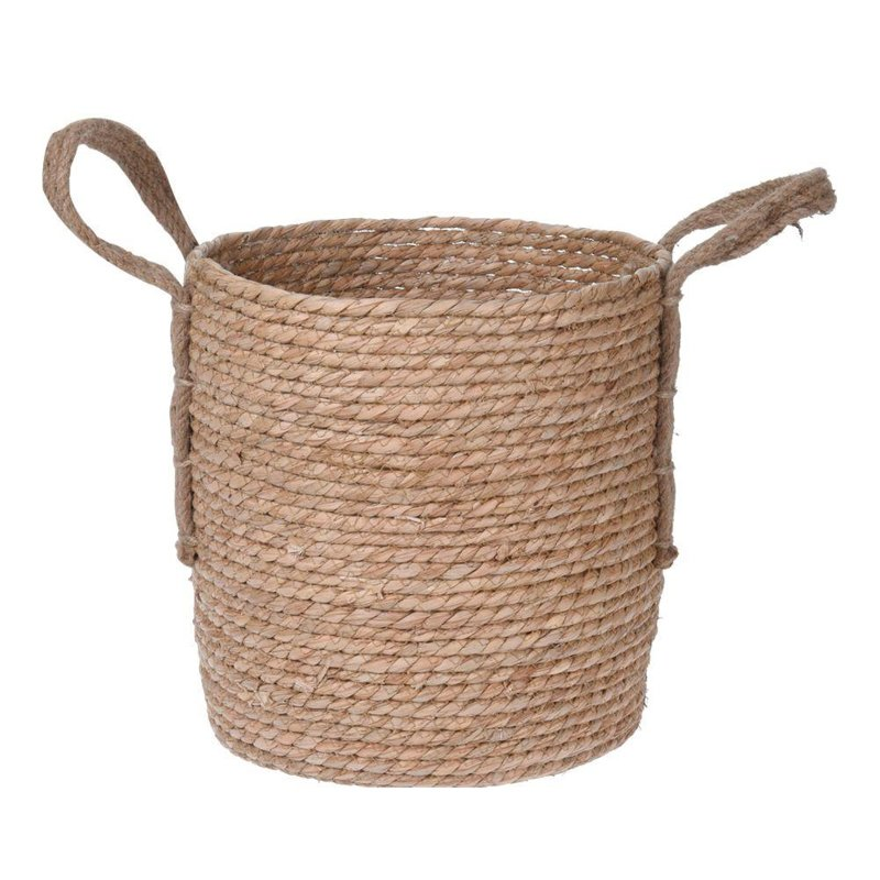 ORION Cover pot BASKET from SEAGRASS for pot flowers plants 28 cm