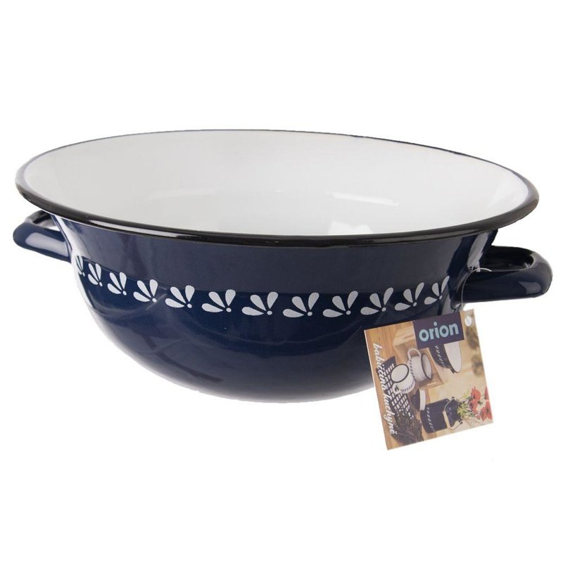 ORION Enamel bowl retro BLUE 26 cm 2,5L