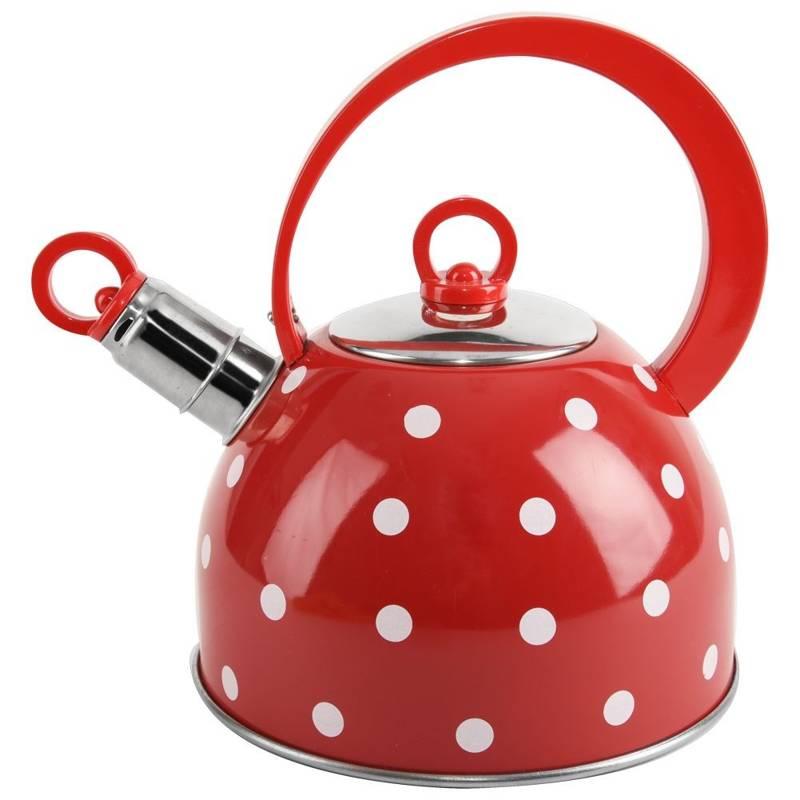 ORION Steel kettle red polka dot 1,8L KARIN
