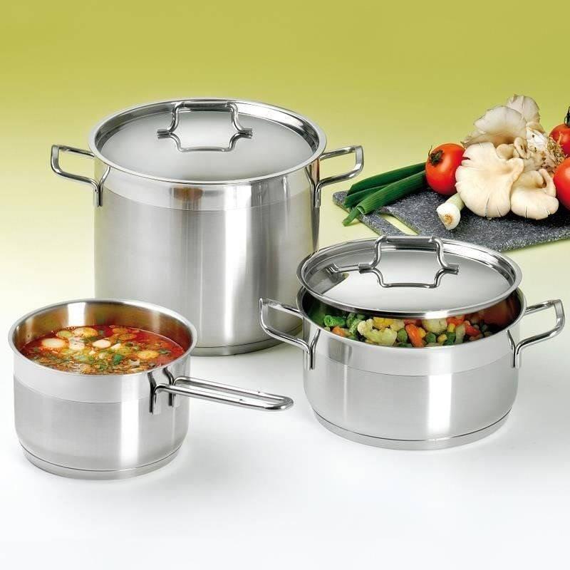 ORION Steel pot with lid 18/10 PREMIUM 3L