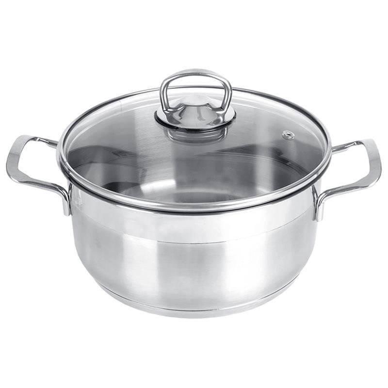 ORION Steel pot with lid 18/10 PREMIUM 6,2L