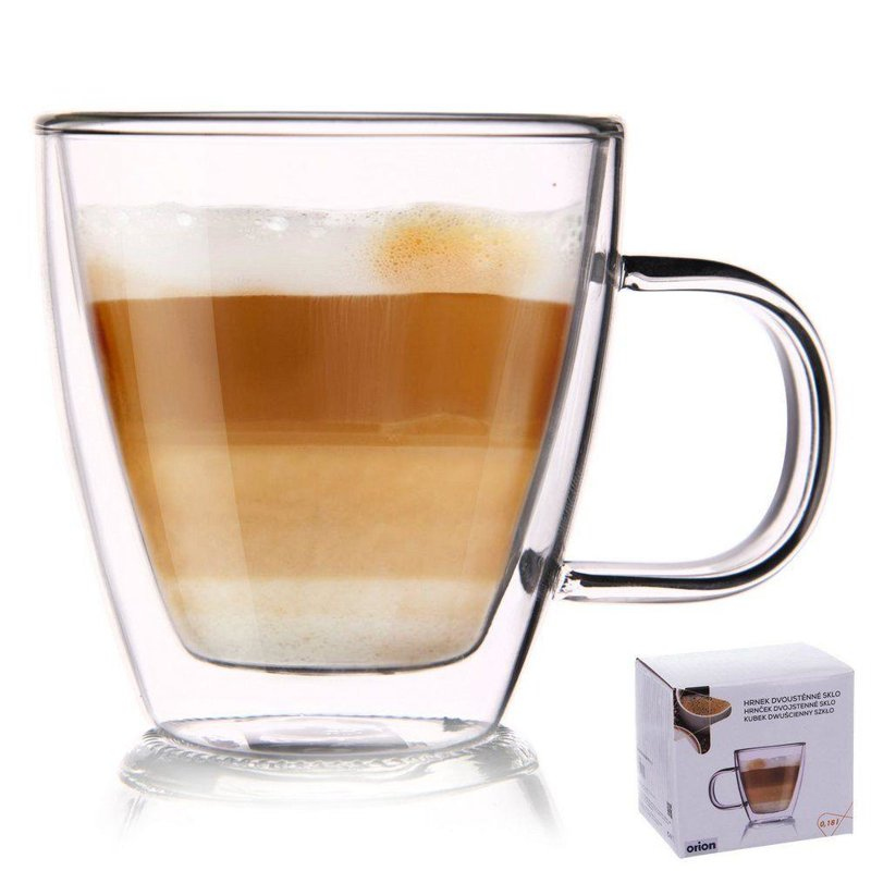 ORION Thermal glass with double wall for COFFEE  0,18L