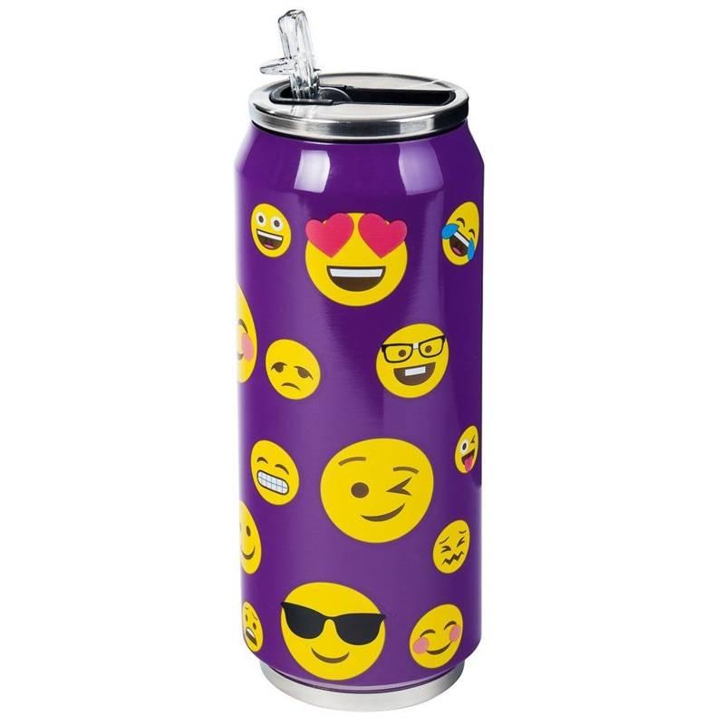 ORION Thermal mug flask CAN SMILES purple 0,5L