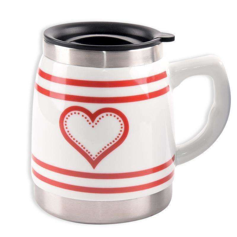 ORION Thermal mug with ceramic HEART 0,5L