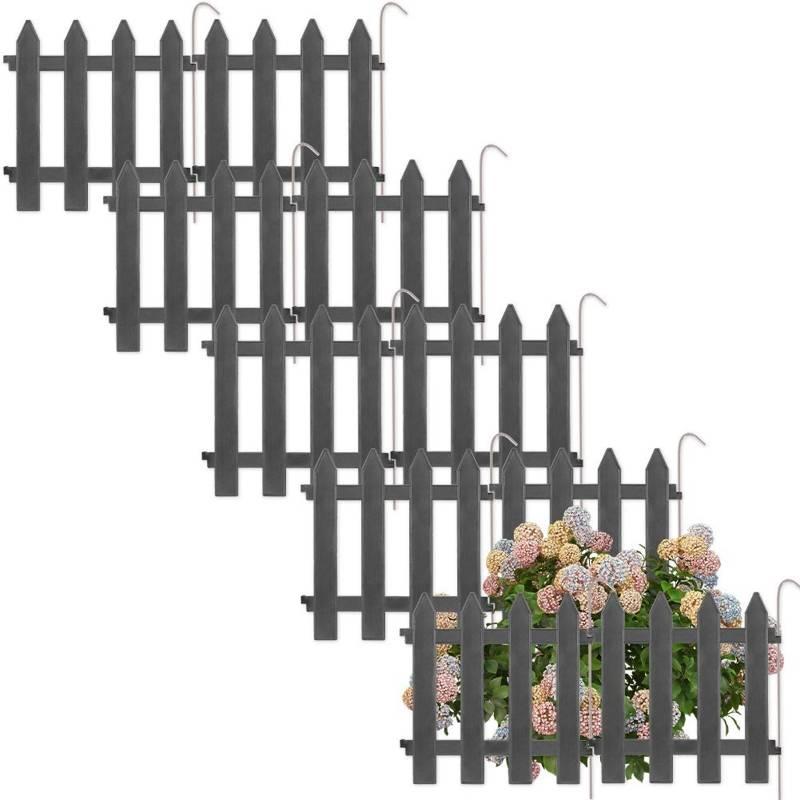 Vilde Palisade garden fence gray 30x30 cm 10 pcs