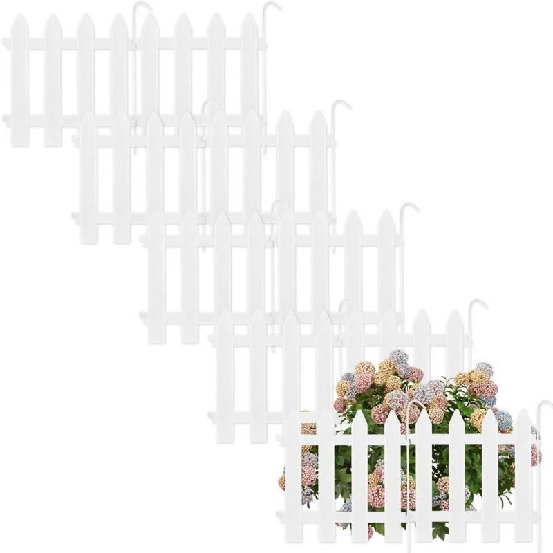 Vilde Palisade garden fence white 30x30 cm 10 pcs
