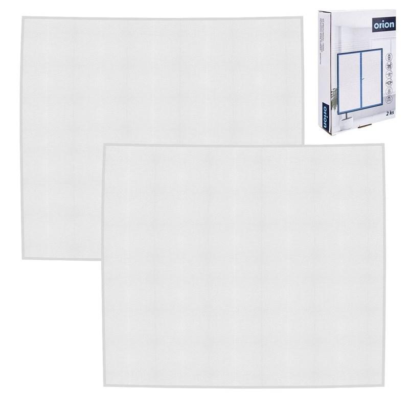 ORION Fliegengitter Moskitonetz für Fenster Insektenschutz Mückenschutz 2x Weiß