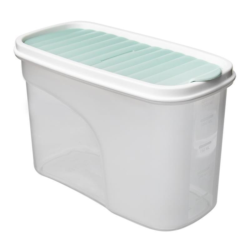 ORION Küchenbehälter Vorratsdose Aufbewahrungsbehälter für Frühstücksflocken Grütze Mehl Nudeln Zucker lose Produkte mit Dosierspender Maßeinteilung 1,2l
