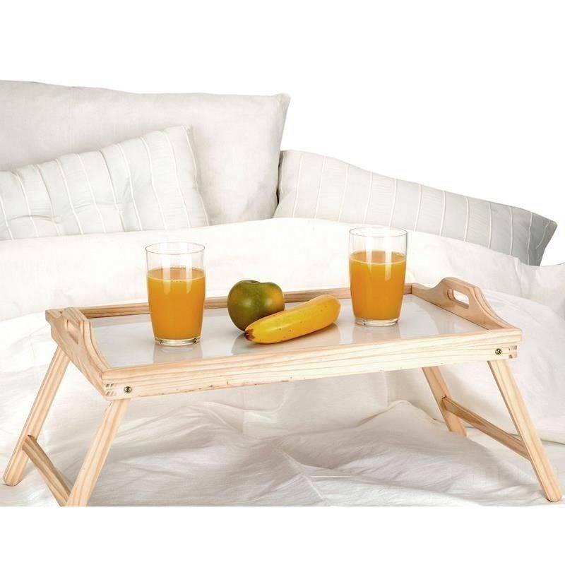 Betttablett Frühstückstablett mit klappbaren Beinen