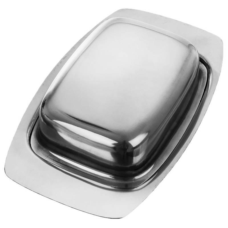 Butterdose Butter-Behälter aus Stahl mit Deckel