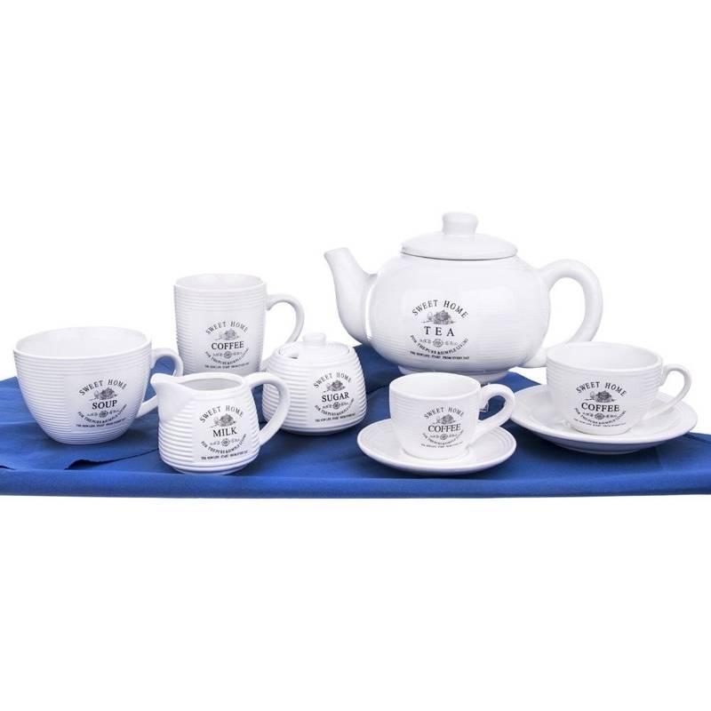 Keramikkanne Teekanne Kaffeekanne mit Deckel 1,8l SWEET HOME