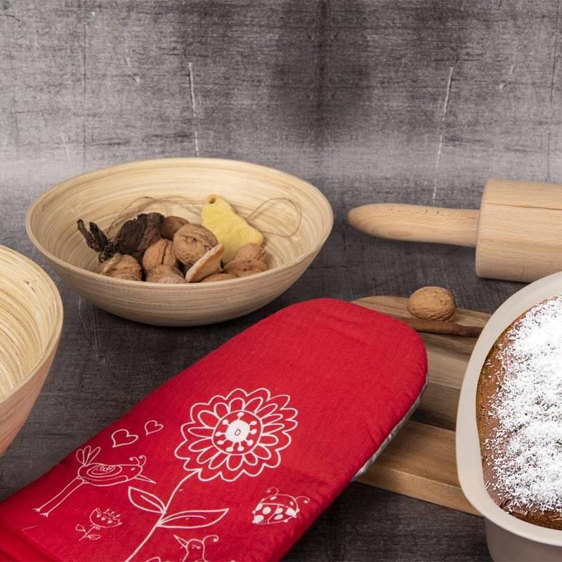 Küchenhandschuh Ofenhandschuh Topfhandschuh teflonbeschichtet mit einem Magneten BLUMEN