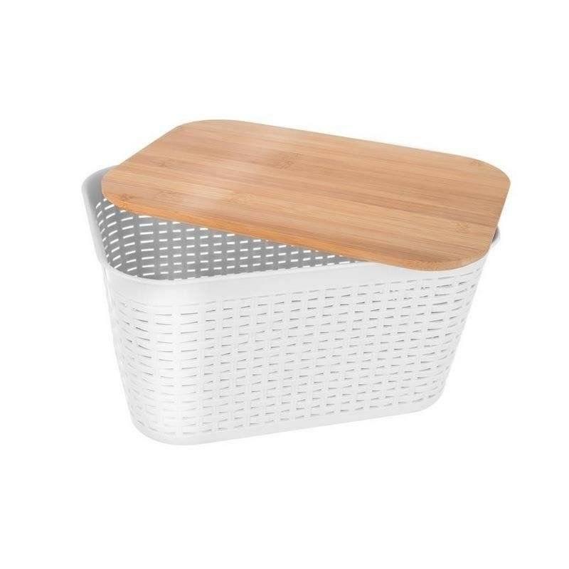 ORION Aufbewahrungsbox für Badezimmer / Aufbewahrungskorb + Deckel