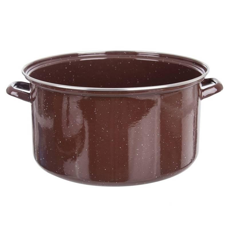ORION Emaille-Topf / emaillierter Kochtopf für Gastronomielokale 32 cm 13l