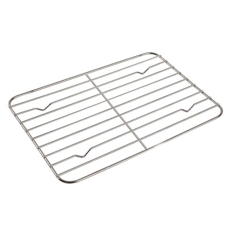 ORION Grillroste Grillgitter für Bräter / Vierkantpfanne 24x16,5
