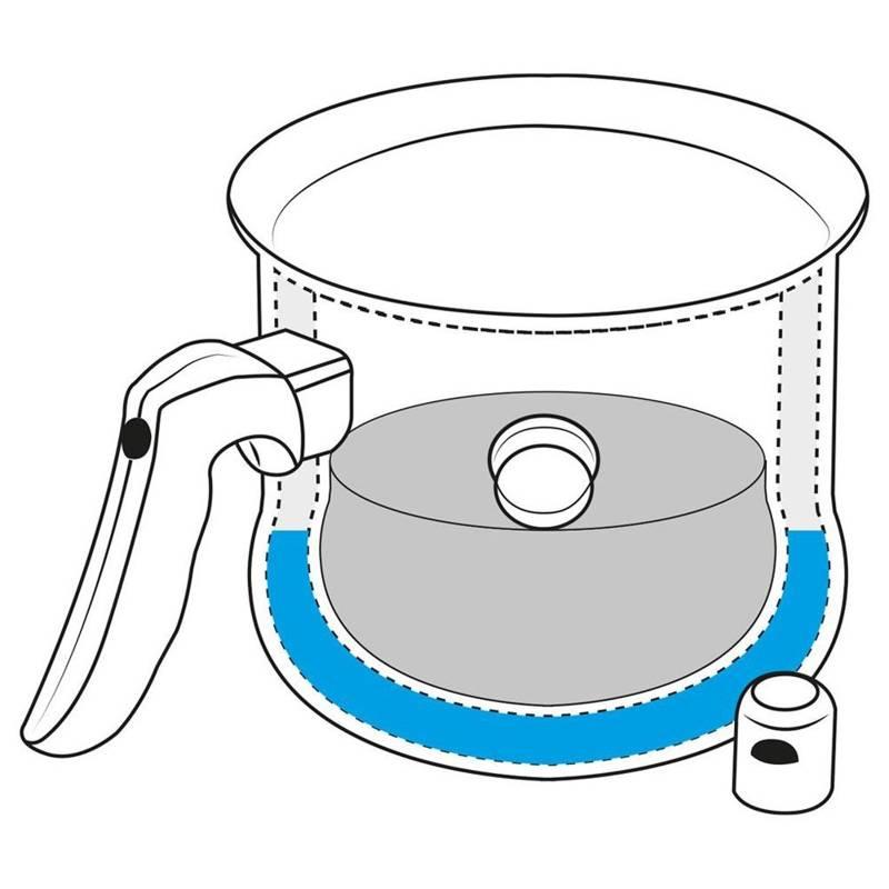 ORION Milchtopf Edelstahl Milch Kochen mit einer Pfeife 2,5 L Gas Induktion