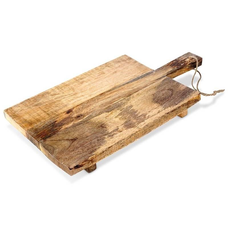 ORION Schneidebrett Servierbrett Holzbrett aus MANGOHOLZ 45x24 cm