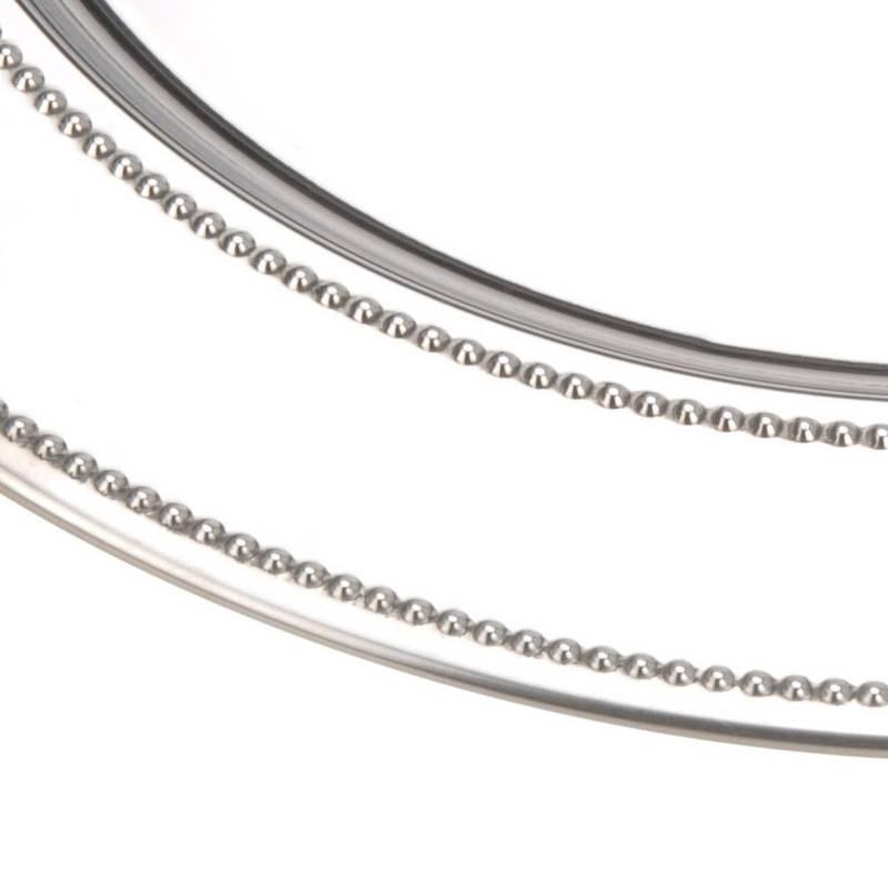 ORION Servierplatte Serviertablett SERVIERTELLER aus Stahl elegant 33 cm