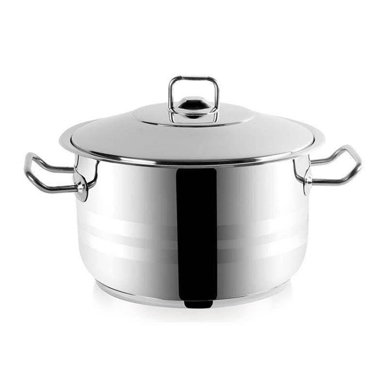 ORION Stahltopf / Kochtopf für Gastronomielokale mit Deckel GASTRO 10,6l