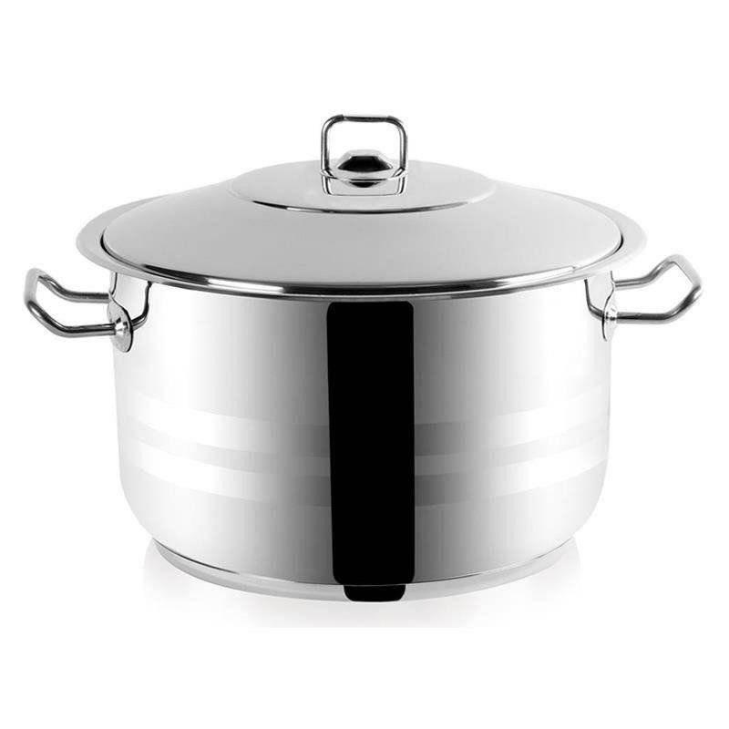 ORION Stahltopf / Kochtopf für Gastronomielokale mit Deckel GASTRO 22l