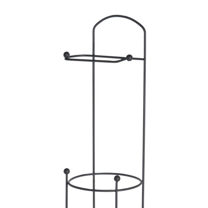 ORION Ständer + Toilettenpapierhalter / Toilettenpapierständer aus Metall schwarz