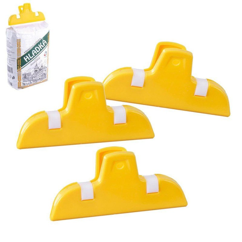 ORION Tütenclips Verschlussklammern Lebensmittel Verschlussclipse 7 cm / 3 Stück