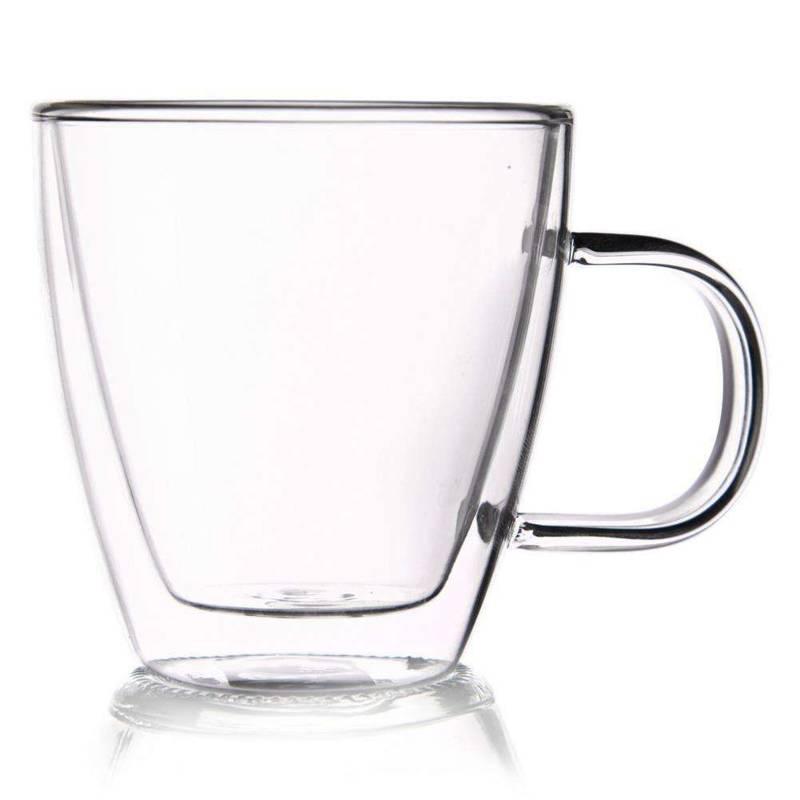4x szklanka termiczna z podwójną ścianką do kawy, 180 ml