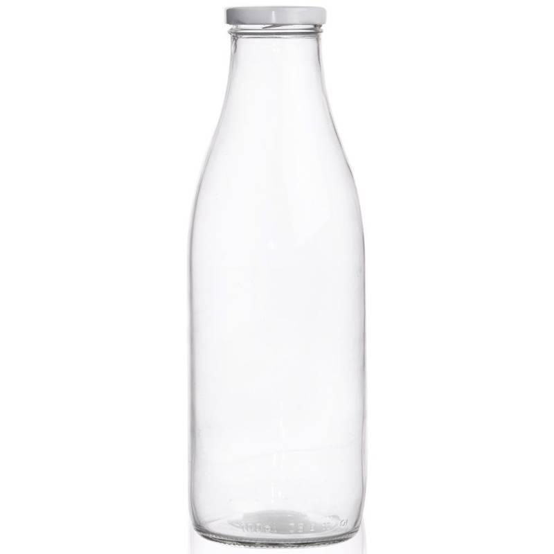 Butelka szklana NA MLEKO 1L do mleka
