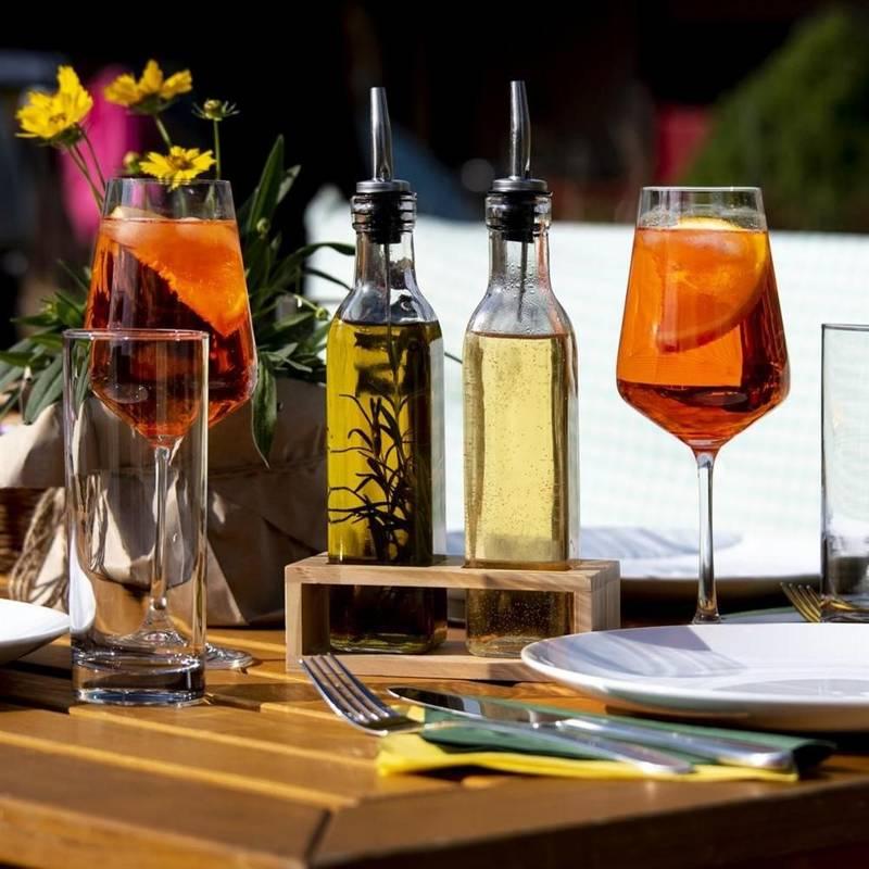 Butelka szklana z dozownikiem, dozownik, na oliwę, ocet, do oliwy, octu, 300 ml
