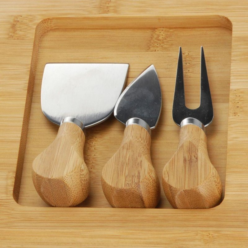 Deska do serów bambusowa noże do sera CHEES
