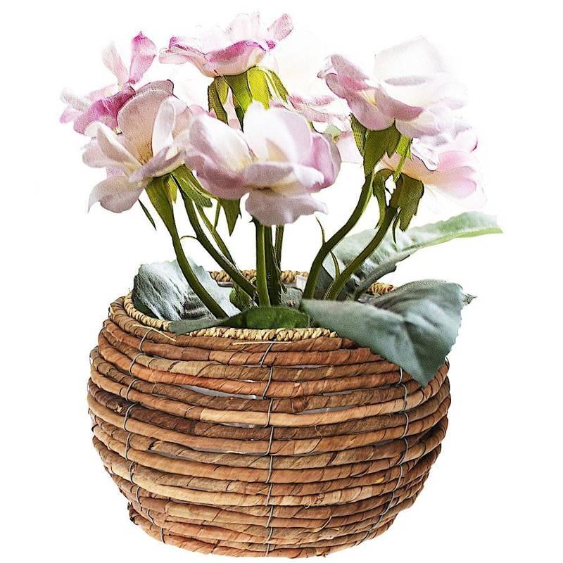 Doniczka, osłonka pleciona, na kwiaty, rośliny, 24x15,5 cm