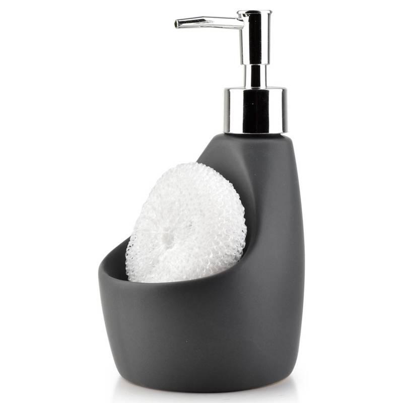 Dozownik do mydła w płynie żelu płynu do naczyń szary