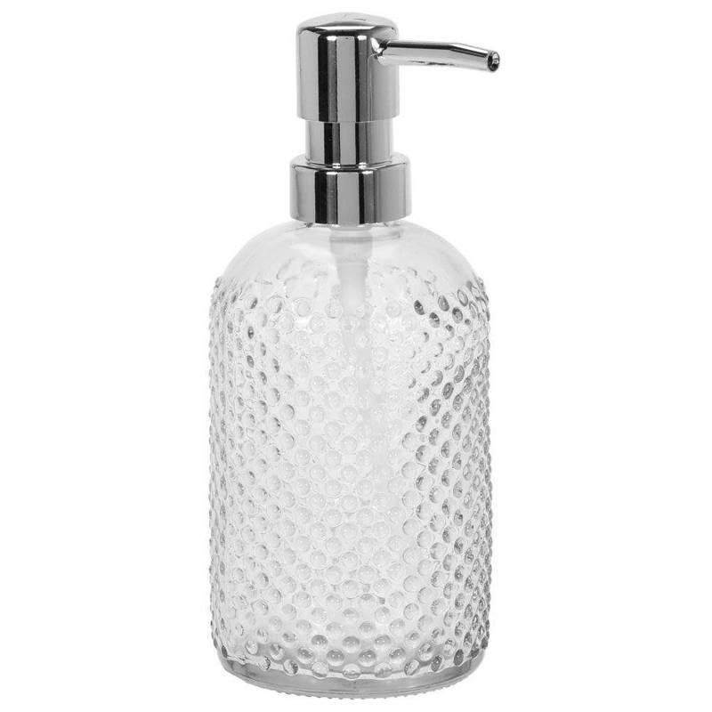 Dozownik pojemnik do mydła w płynie płynu SZKLANY