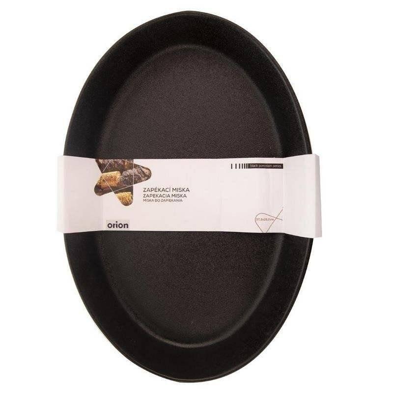 Forma brytfanna porcelanowa czarna do zapiekania żaroodporna 37x25 cm półmisek talerz 3L