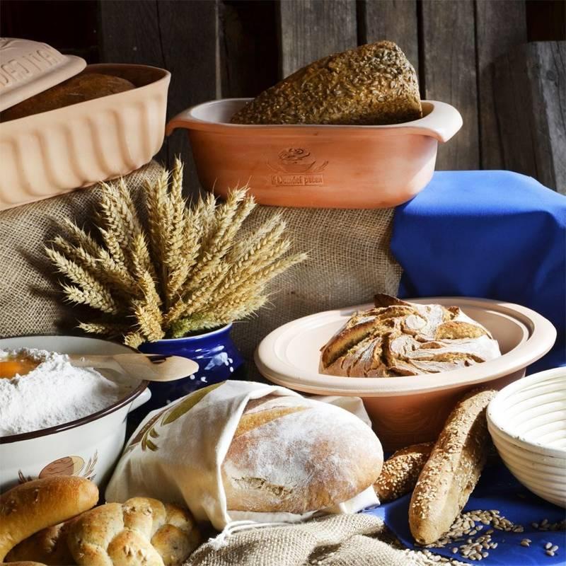 Forma ceramiczna do pieczenia chleba na chleb okrągła