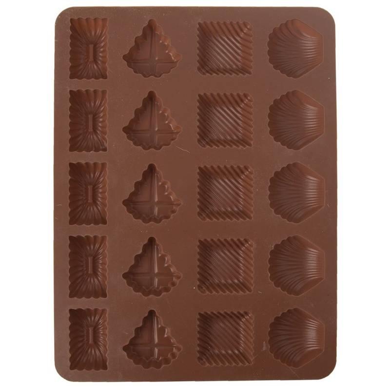 Forma do pieczenia ciastek, pralin, czekoladek, ciasteczek, na praliny, silikonowa, 20 sztuk