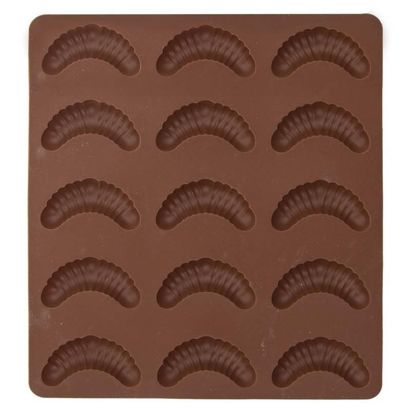Forma do pieczenia ciastek, rogalików, silikonowa, rogaliki, 15 sztuk