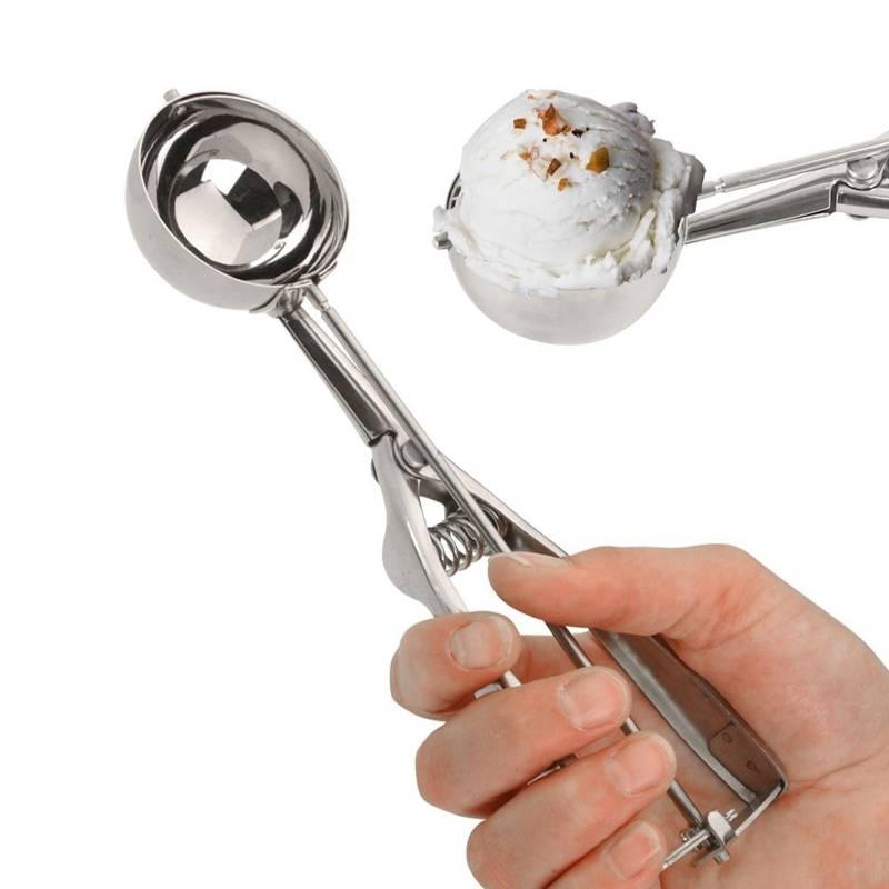 Gałkownica / łyżka do nabierania lodów stalowa