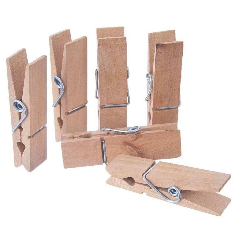 Klamerki drewniane, dekoracyjne, zestaw, komplet, 12 sztuk, 7,2 cm