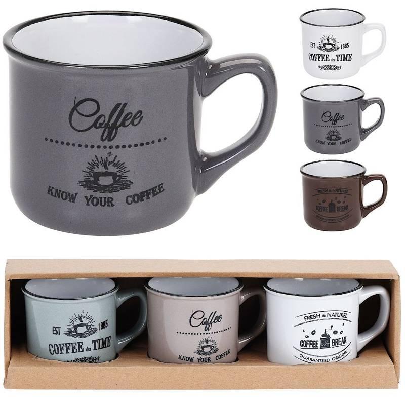 Kubek ceramiczny, zestaw, komplet kubków, 90 ml, na kawę, espresso, kubki do kawy