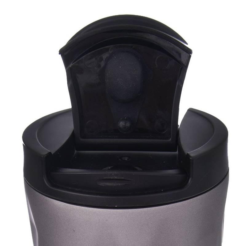 Kubek termiczny, termos stalowy, 0,5 l, szczelny, szary