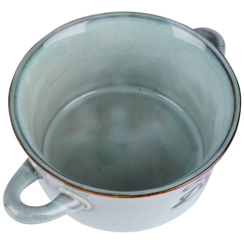 Miska na zupę, bulionówka do zupy, ceramiczna, 650 ml, szara