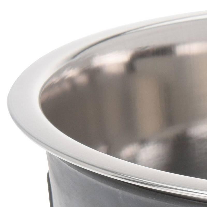 Miska stalowa ANTYPOŚLIZGOWA pojemnik dla psa na karmę wodę 21 cm 1,8L