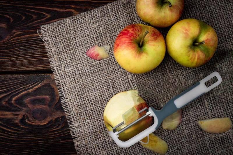 Obieraczka kuchenna do warzyw, owoców, obierak, skrobak, nóż do obierania, nożyk poziomy, pionowy, 2 sztuki