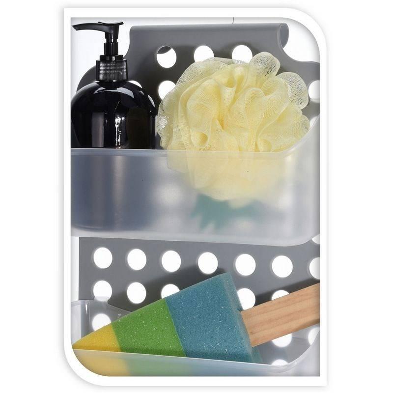 Organizer półka łazienkowa pod prysznic wieszak z półkami