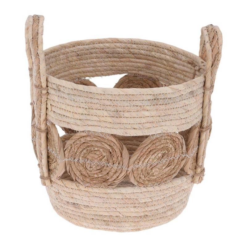 Osłonka, donica, doniczka, kosz boho, koszyk pleciony z trawy morskiej na doniczkę, rośliny, do przechowywania, 24x20 cm