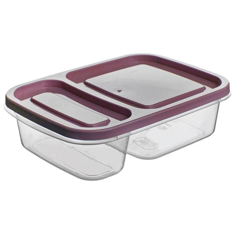 Pojemnik DZIELONY do żywności, 2-częściowy, lunchbox, 0,75L