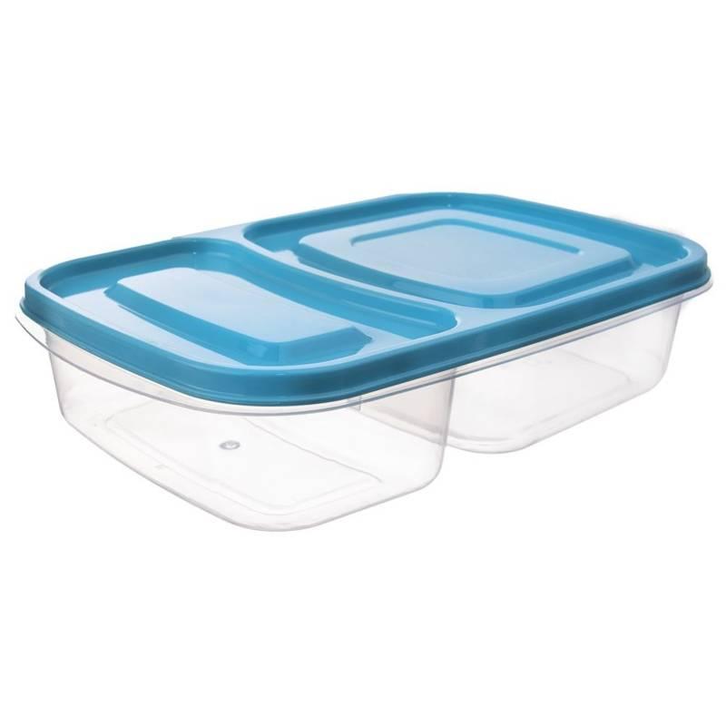 Pojemnik DZIELONY do żywności 2-częściowy lunchbox 1,2L